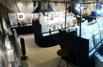 Evening Scene of MAPSandART's booth at Blue Hills at Round Top, TX