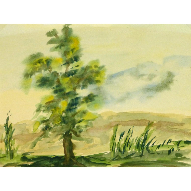 Watercolor Landscape The Overlook 9143m