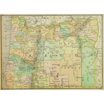 Original Antique Map Oregon 9256m