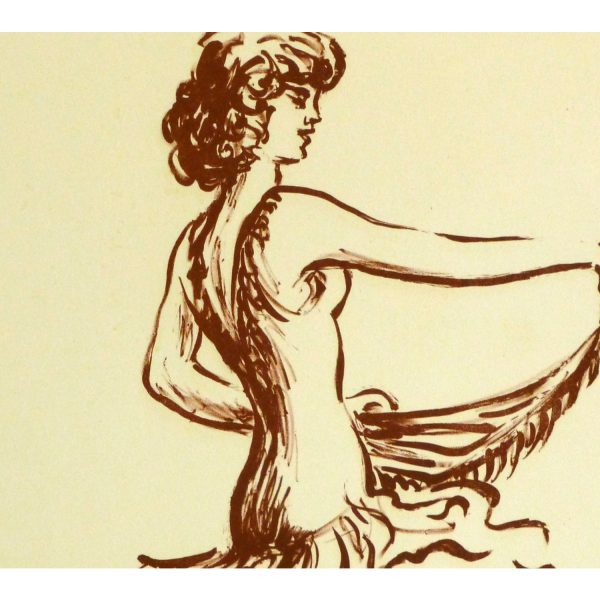 Lithograph of Flamenco Performer - detail - 9147m
