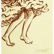 Lithograph of Flamenco Performer - signature detail - 9147m