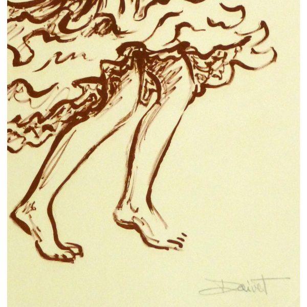 Lithograph of Flamenco Performer - signature detail - 9147m