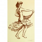 Lithograph of Flamenco Performer 9147m