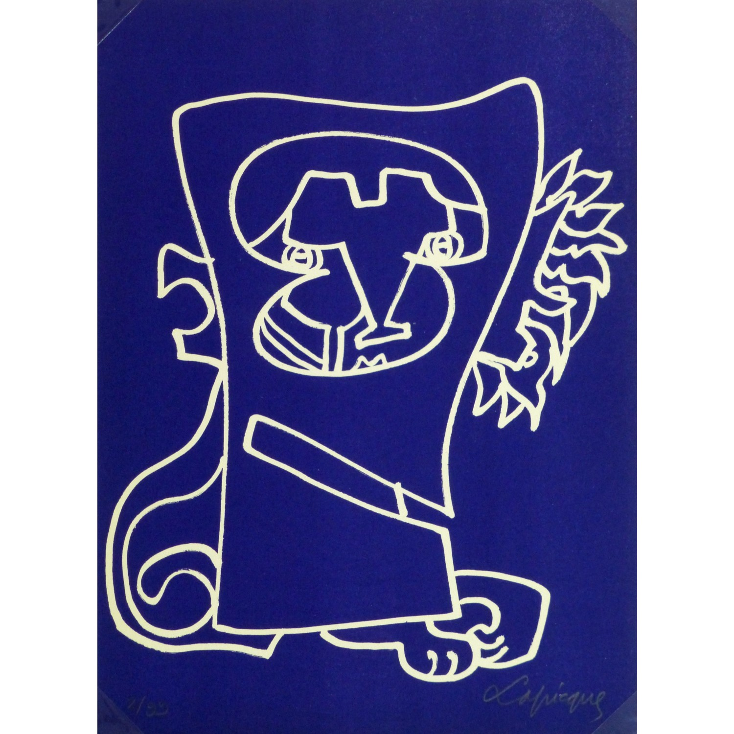Abstract Lithograph by Charles Lapicque L'Ambition 9148m
