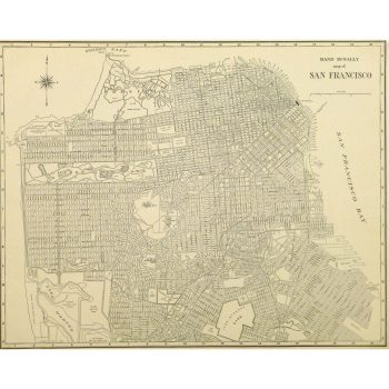 Original Antique Map San Francisco 9231m
