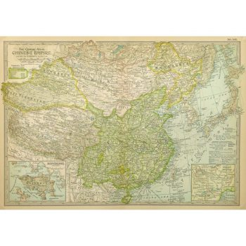 Antique Map Chinese Empire 9237m