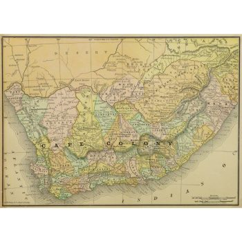Original Antique Map Cape Colony 9243m