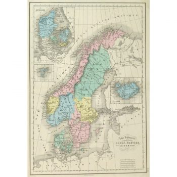 Antique Map Sweden and Norway 9247m