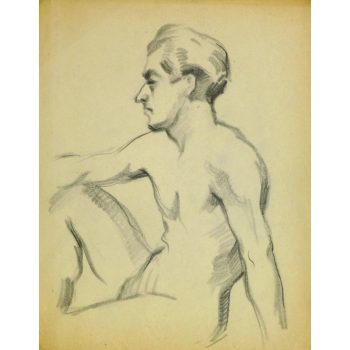 Vintage Pencil Drawing by Jean Ernst 9295
