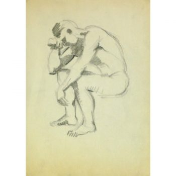 Vintage Pencil Drawing by Jean Ernst 9296