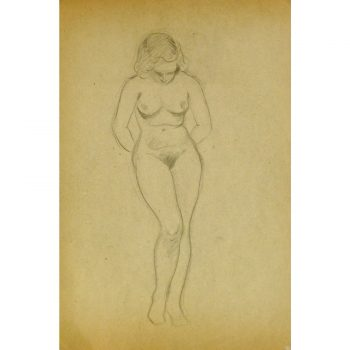 Vintage Pencil Drawing by Jean Ernst 9300