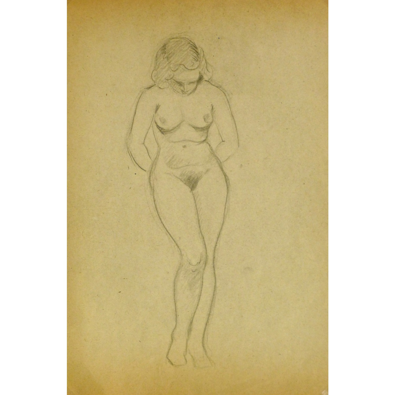 Vintage Pencil Drawing by Jean Ernst 9300