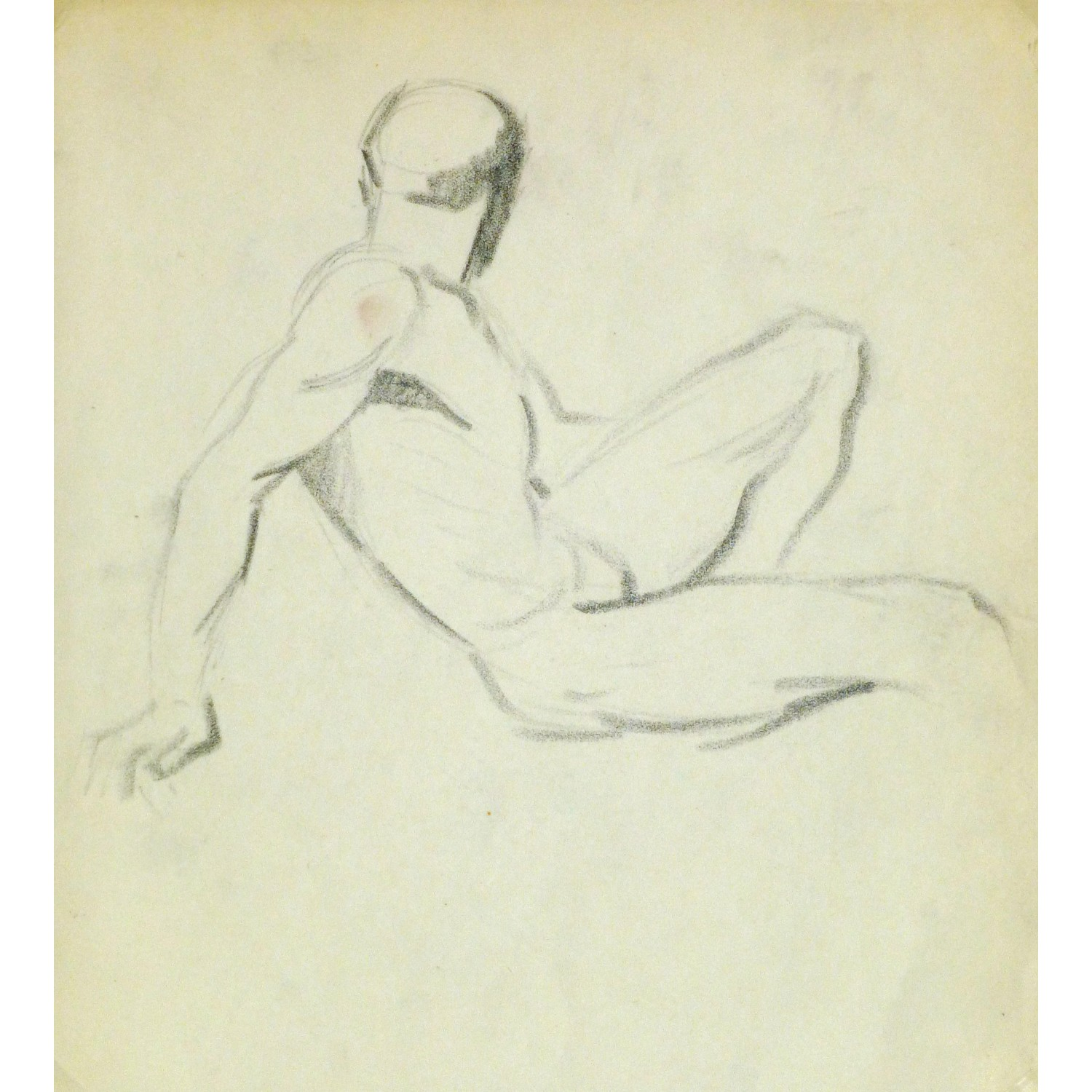 Vintage Drawing by Jean Ernst 9301