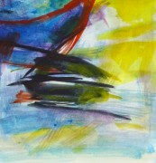 Watercolor Seascape - Abstract Ship - Detail-10104M
