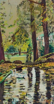 Gouache Landscape - Summer Swans - main-10106M