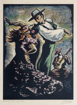 Woodcut - Flamenco Dancers-main-10108M