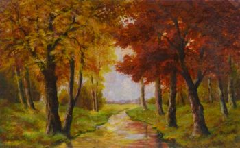 Oil Landscape - Autumn River-main-10113M
