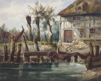 Watercolor Landscape - The Fisherman's Home-main-10114M