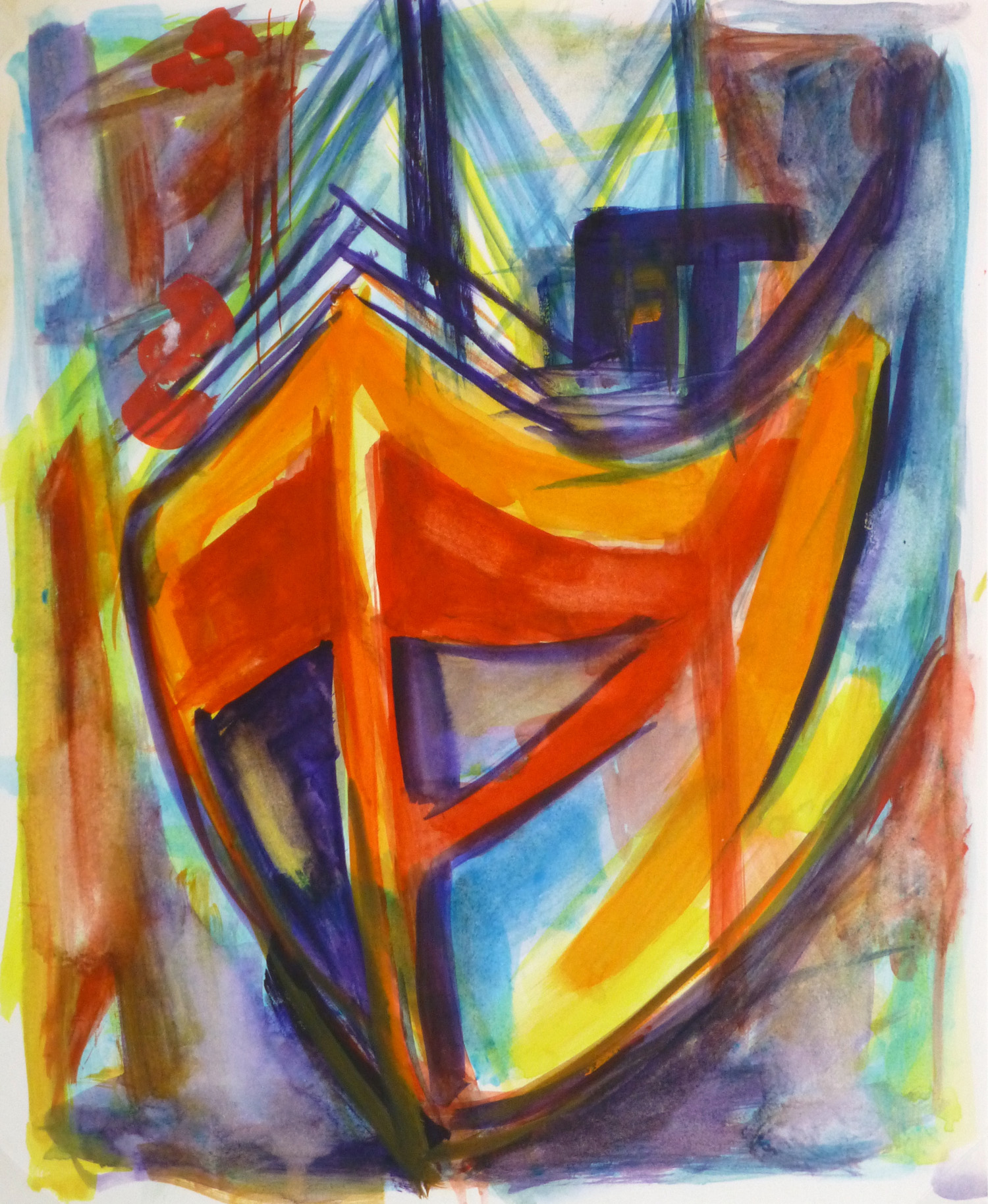 Abstract Acrylic - Graphic Boat-main-10115M
