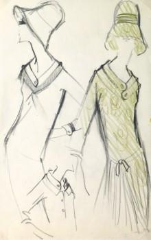 Pencil Fashion Sketch- Dresses & Hats- main-10118M