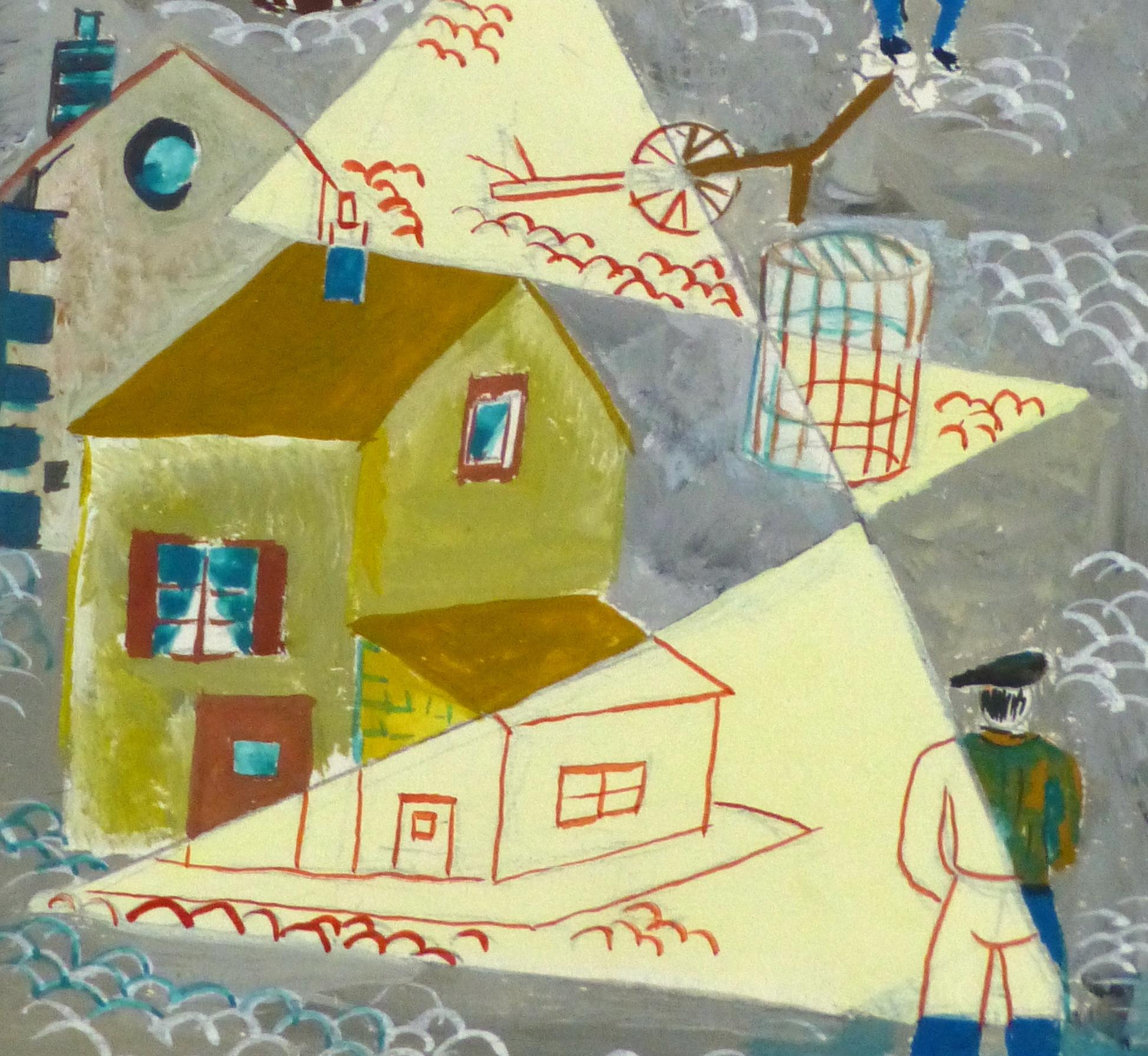 Abstract Gouache - Docks- detail-10122M