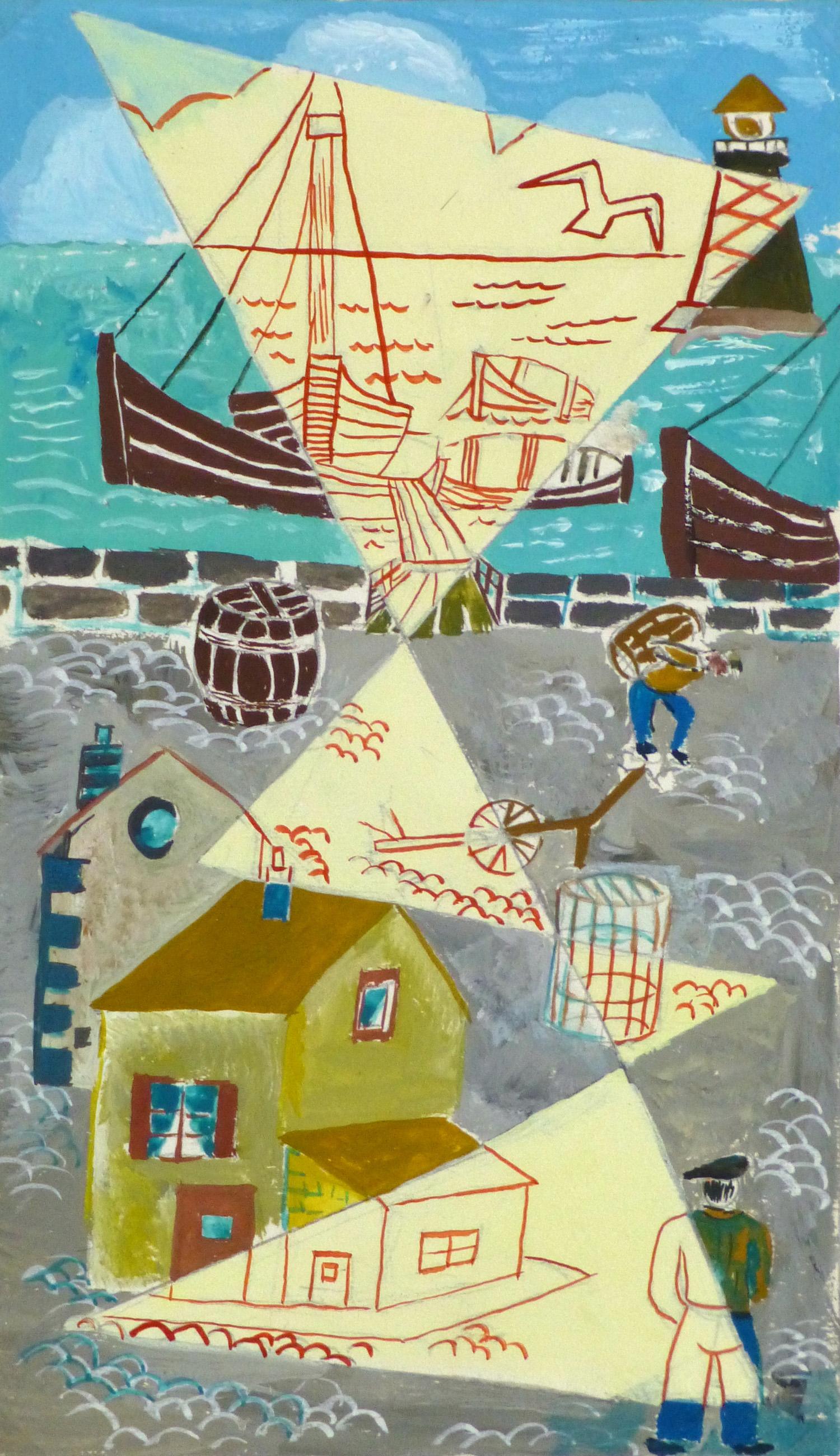 Abstract Gouache - Docks- main-10122M