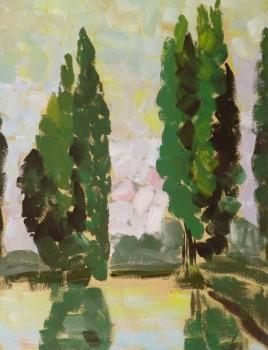 Acrylic Landscape - Couleurs-main-10123M