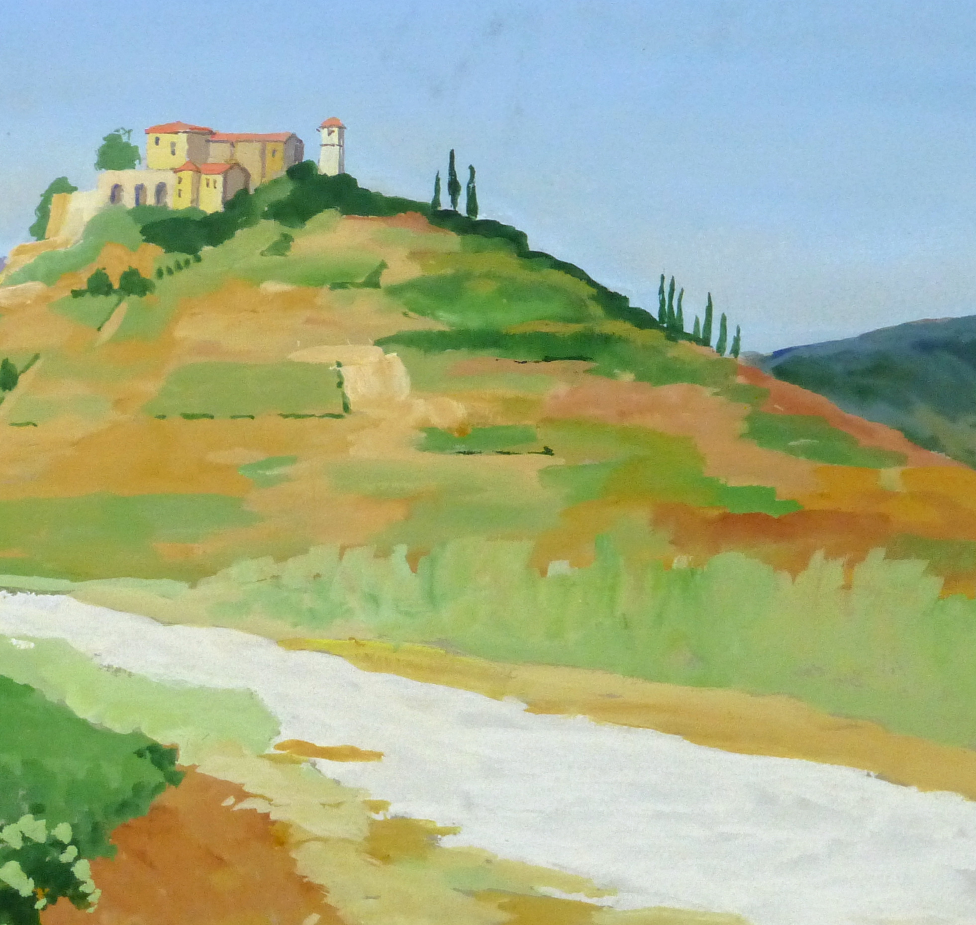 Acrylic Landscape - French Vineyards - Detail 1- 9960M