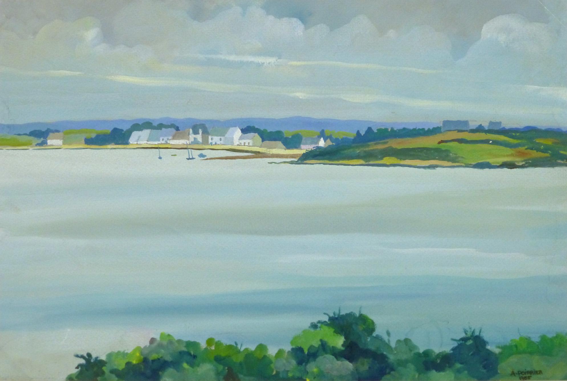 Acrylic Landscape - Brittany Coast - main- 9961M