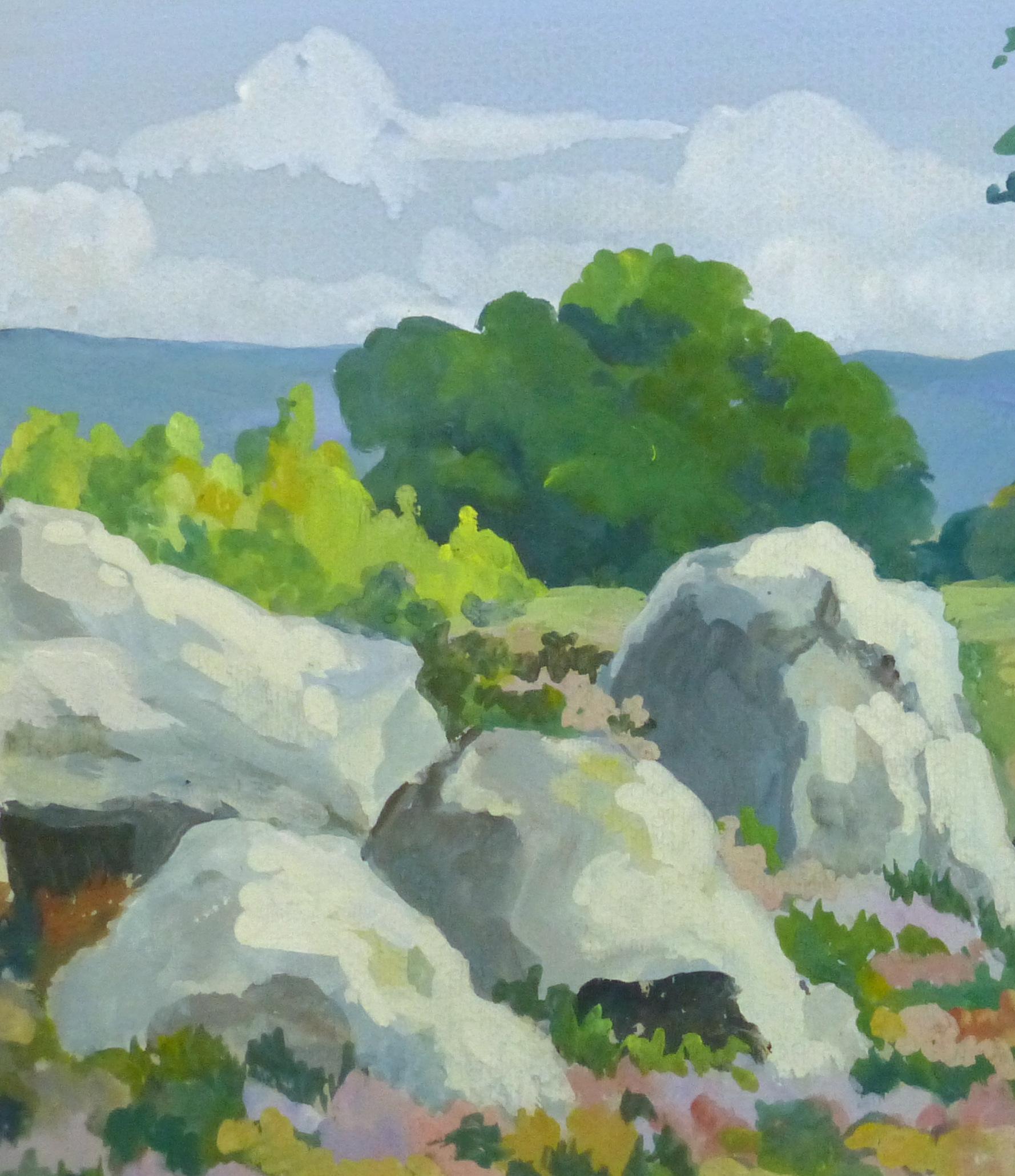 Acrylic Landscape - Coastal Overlook - Detail 2- 9962M