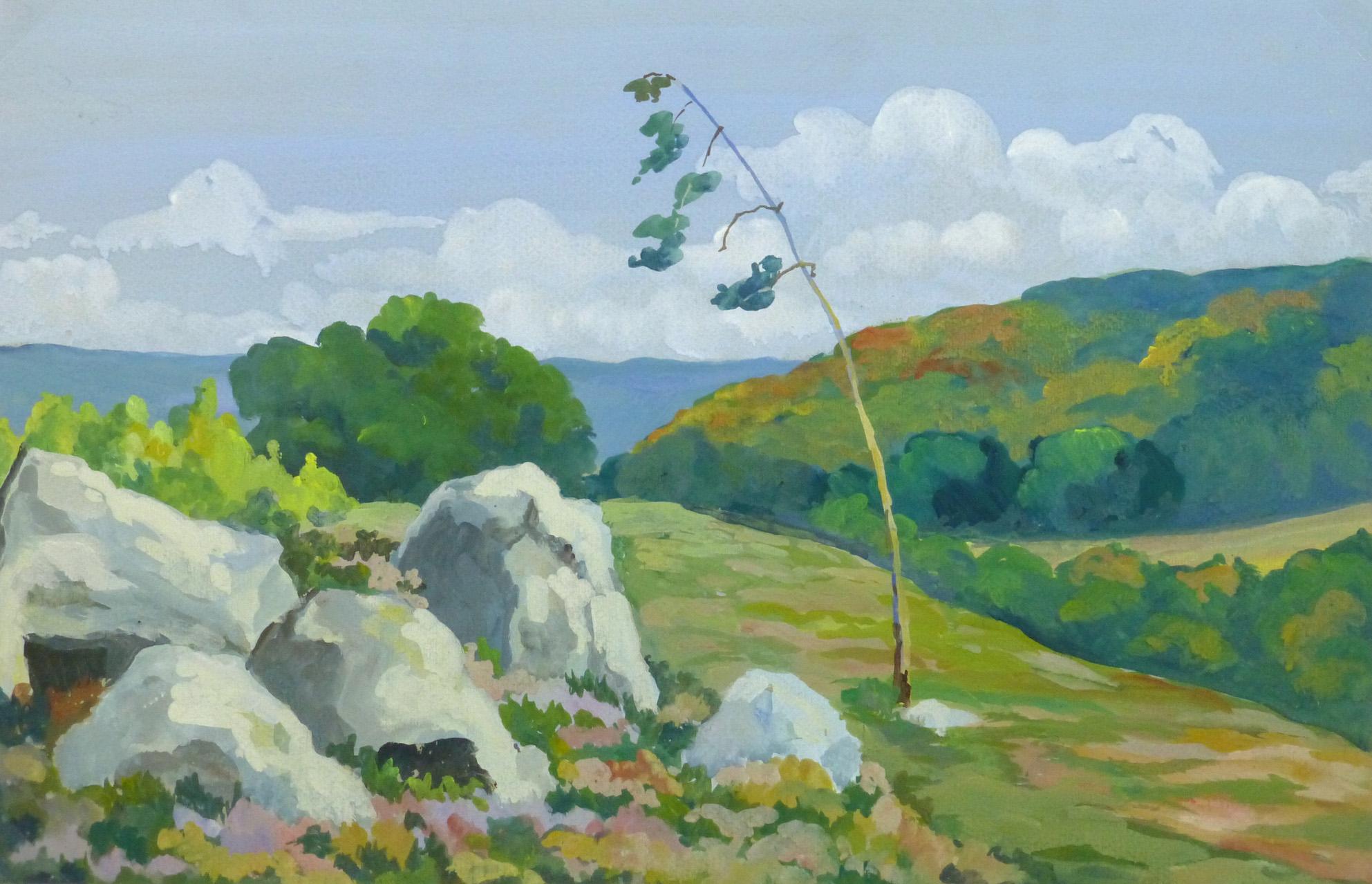 Acrylic Landscape - Coastal Overlook - Main- 9962M