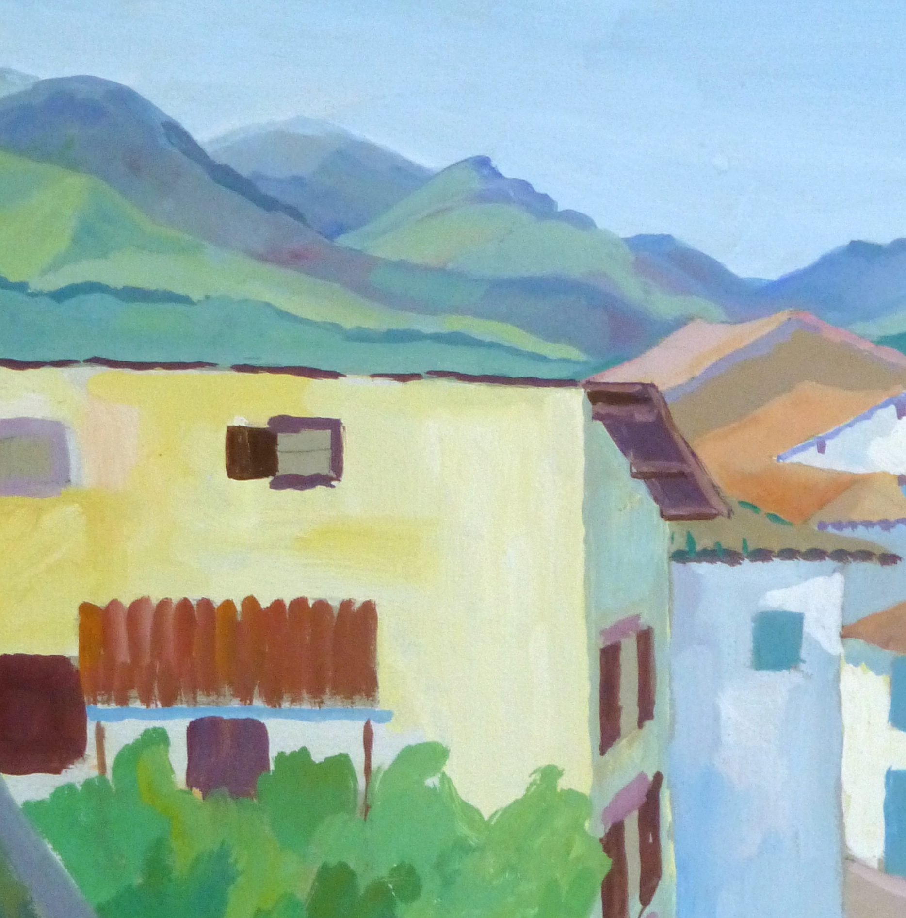 - French Hillside Village - Detail 2- 9963M