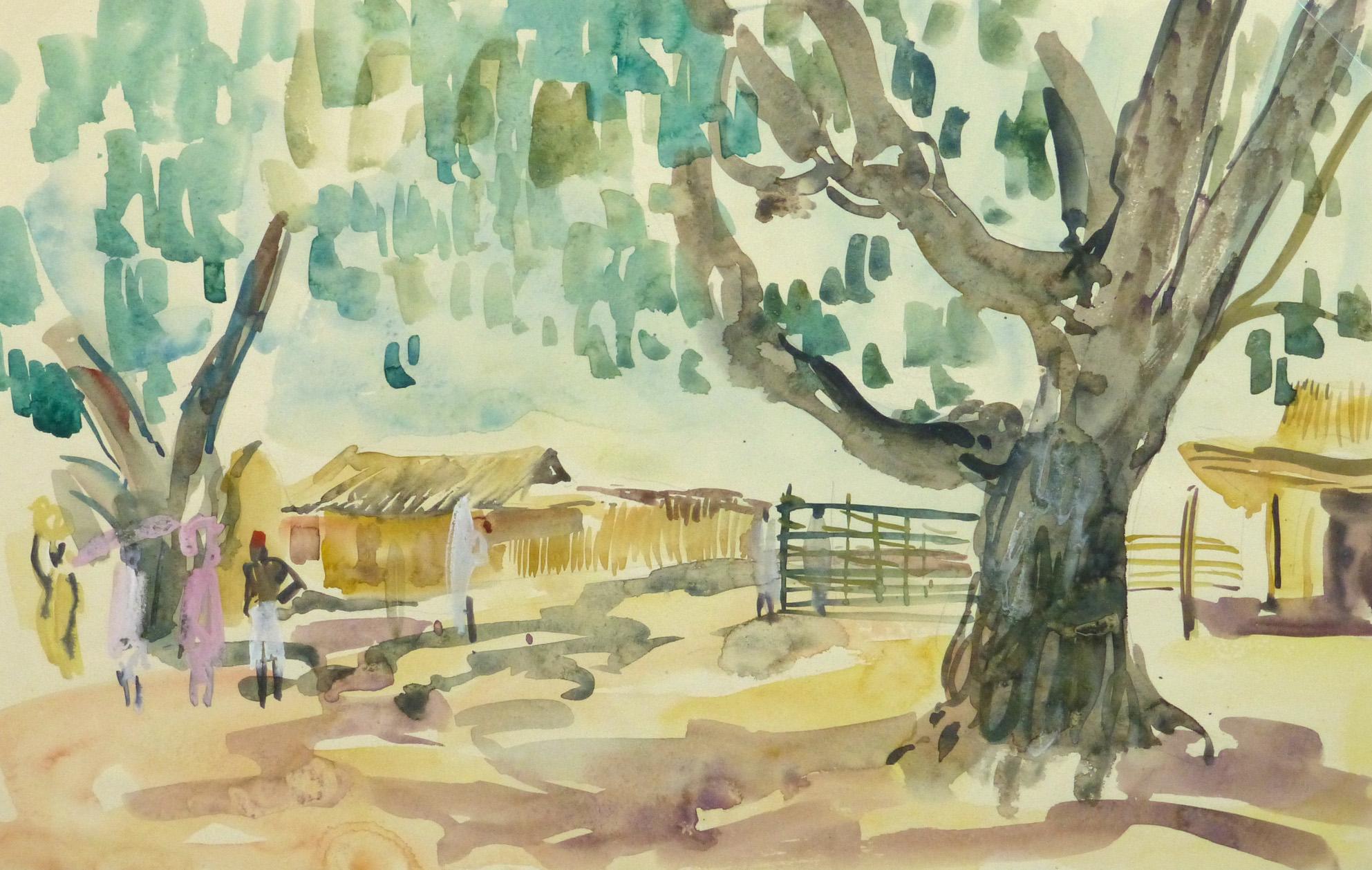 Watercolor Landscape - Village Farm - Main-9966M