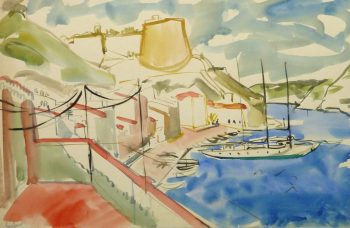 Watercolor Landscape - Island Port - Main-9967M