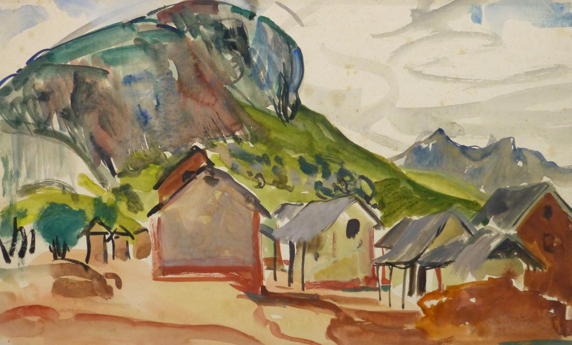 Watercolor Landscape - Tropic Mountainside - Main-9970M