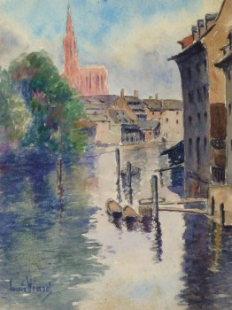 Watercolor Landscape - The Canal- Main- 9971M