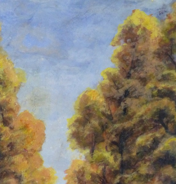Oil Landscape - Arbor Path - Detail 2-9972M