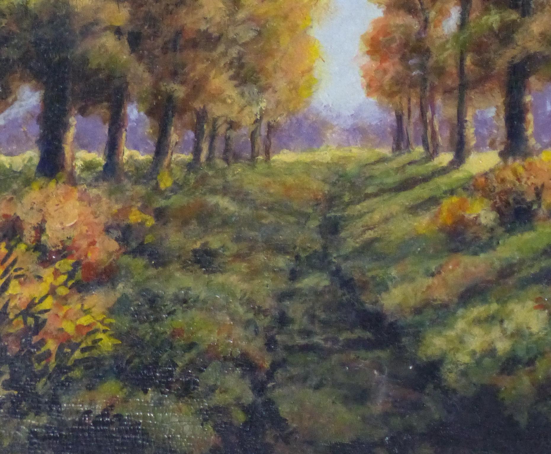 Oil Landscape - Arbor Path - Detail 1-9972M