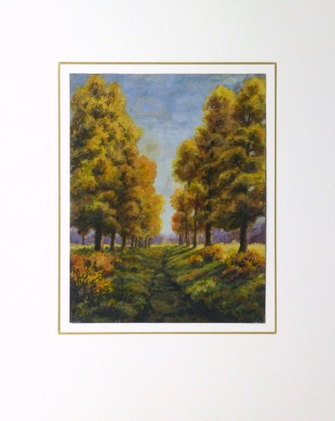 Oil Landscape - Arbor Path - Matted-9972M