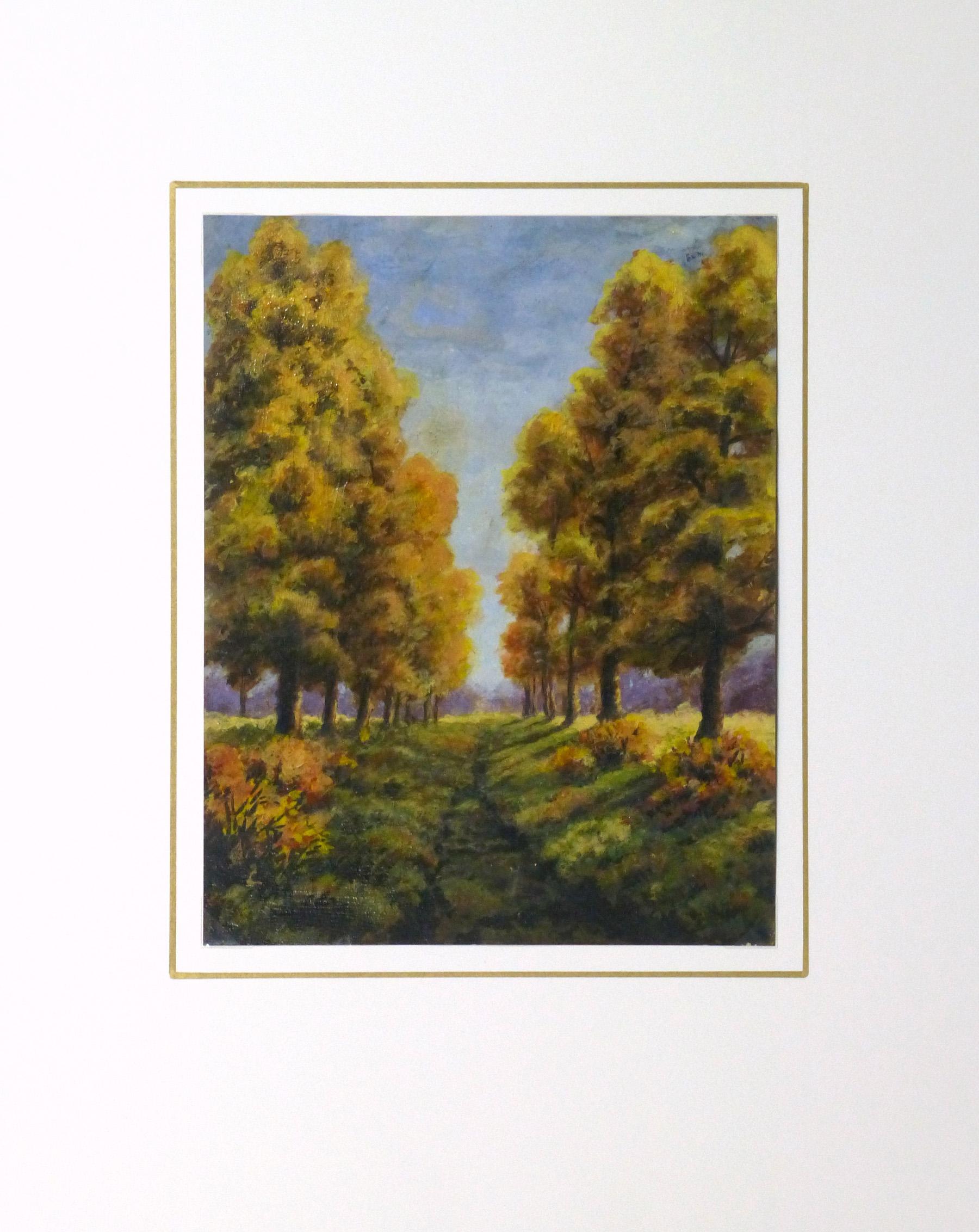 Oil Landscape - Arbor Path - Matted-9972M