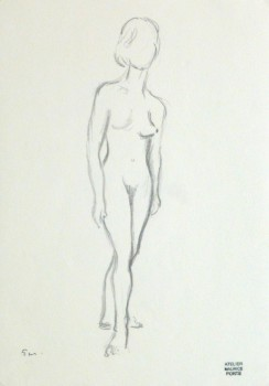 Charcoal Sketch - Female Nude-main-10153M