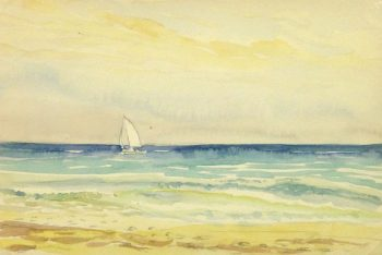 Watercolor Seascape - Sailing-main- 10163M
