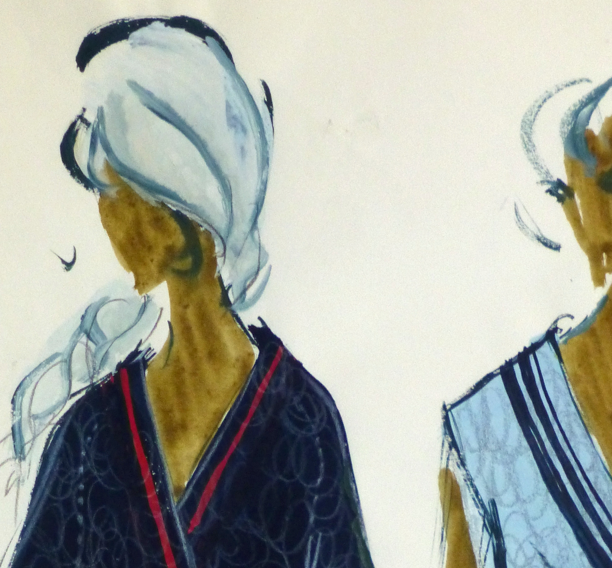 Gouache Fashion Sketch- Balmain Nautical Blouses-detail-10195M