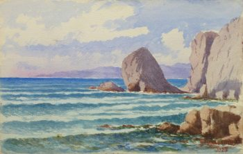 Watercolor Seascape - Rocky Shore-main-10236M