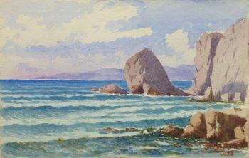 Watercolor Seascape - Rocky Shore-main-10236M