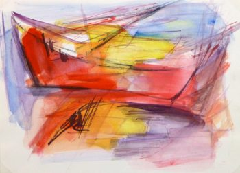 Gouache Abstract - Row Boat -main-10239M