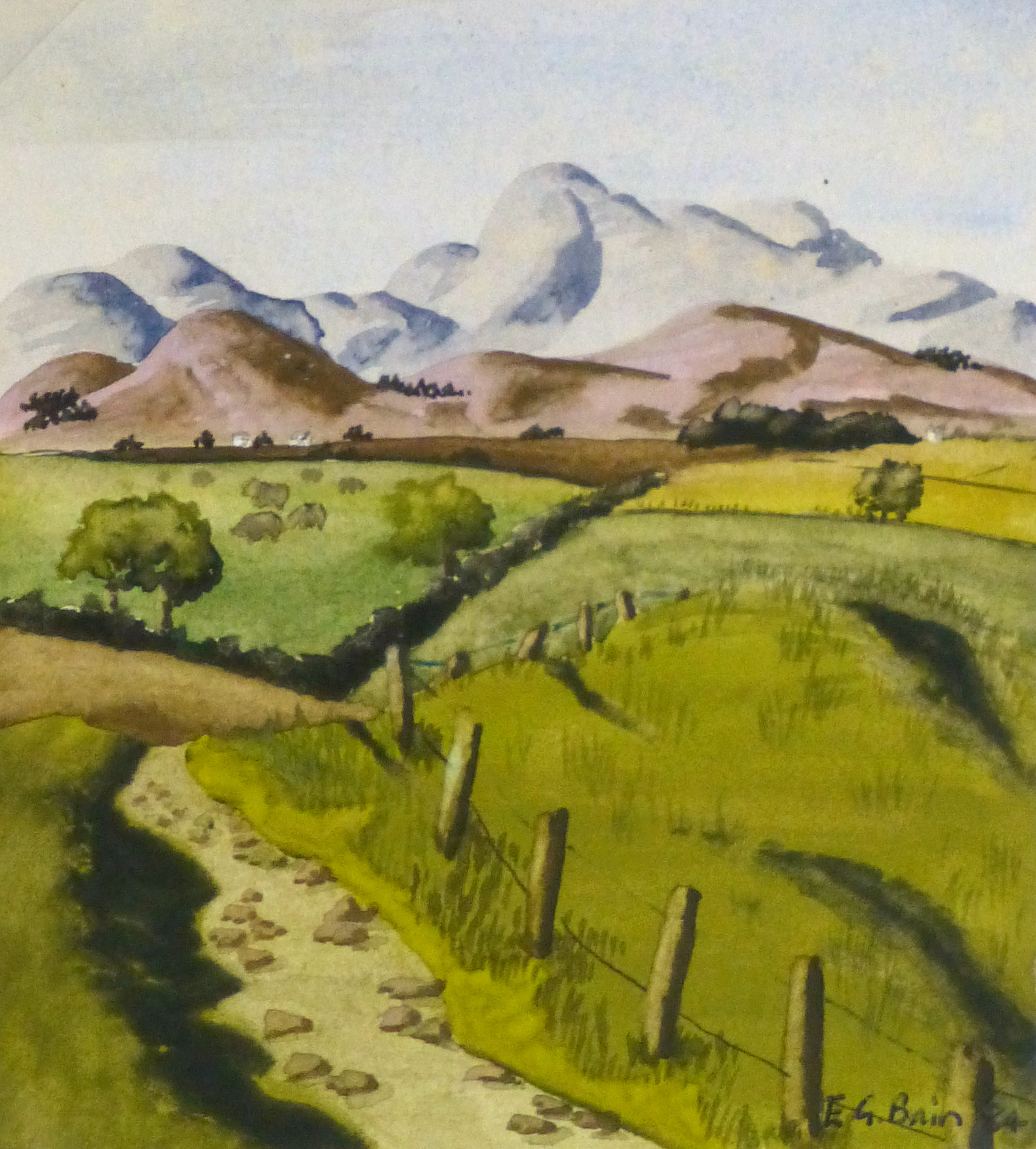 Watercolor & Gouache Landscape - English Countryside-main-10241M