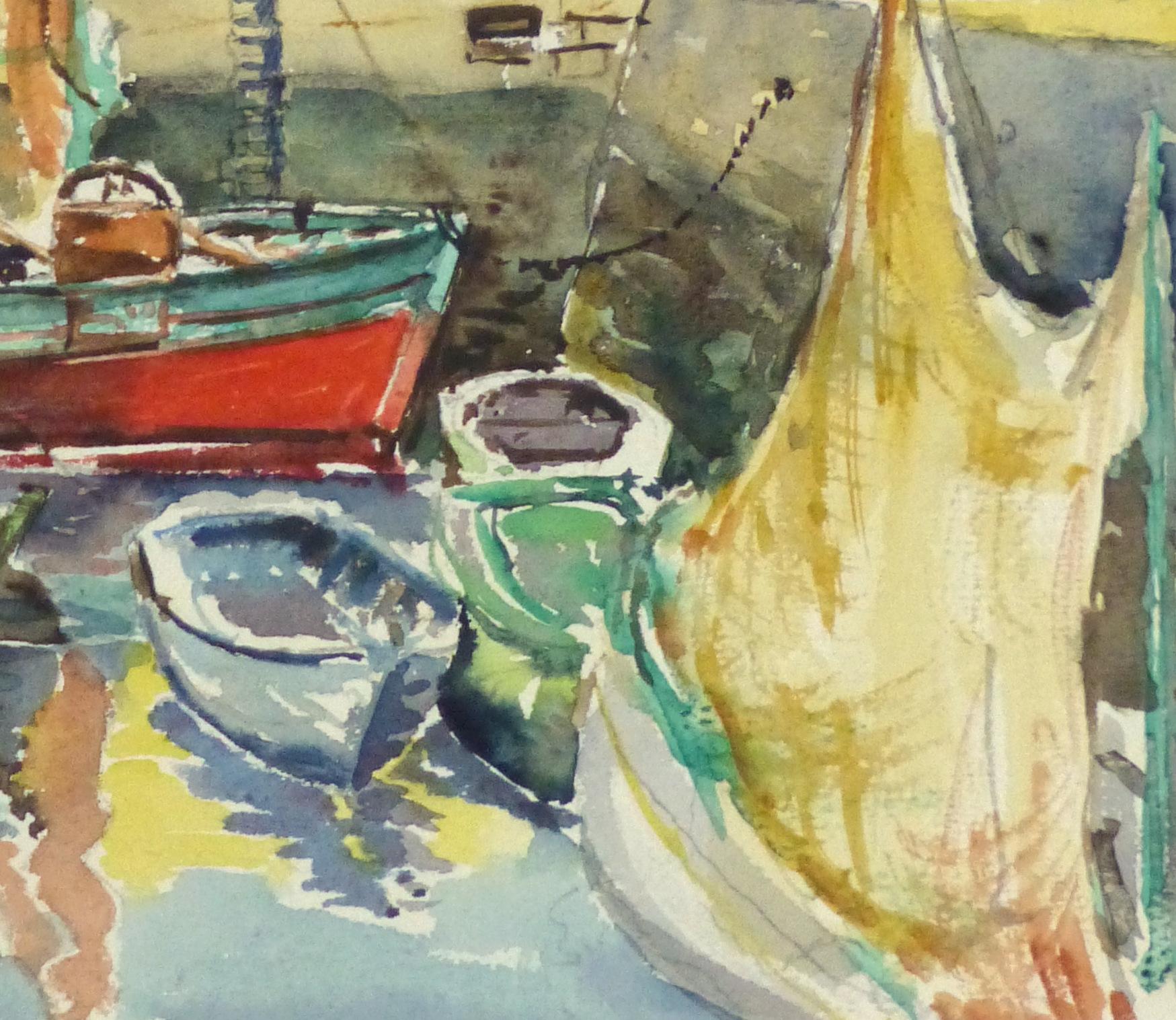 Watercolor Seascape - Bright Harbor-detail-10243M