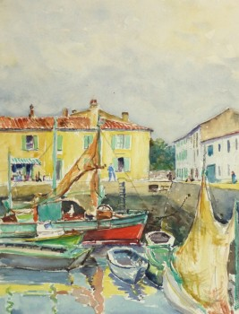 Watercolor Seascape - Bright Harbor-main-10243M