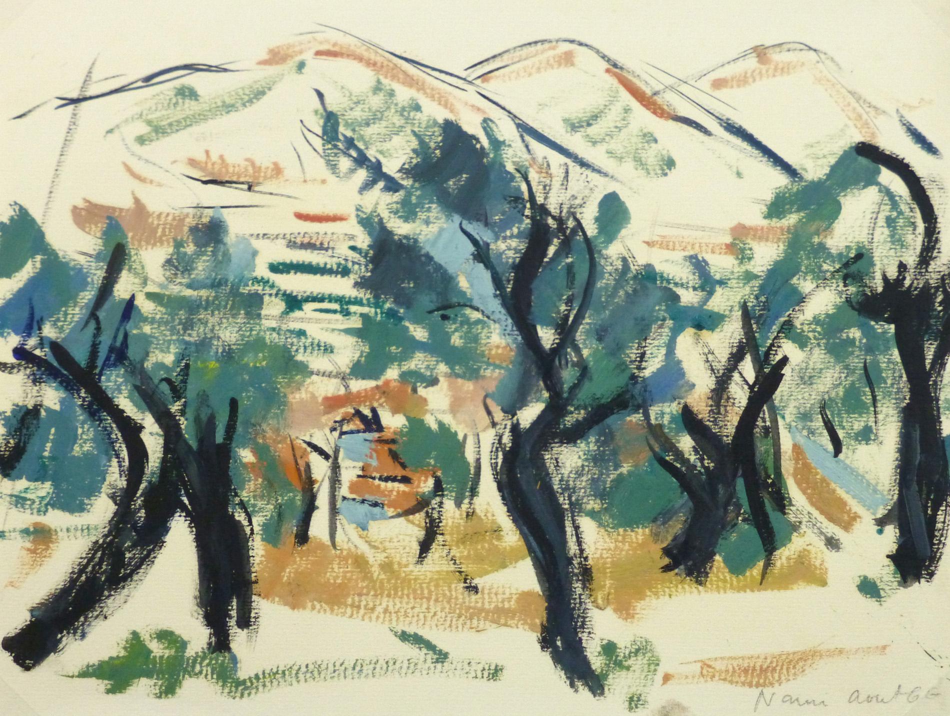 Gouache Landscape - Narni, Italy-main-10247M